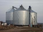 Зернохранилище с плоским днищем