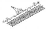 Борона зубовая БЗСП 15 с секциями БЗСС-1,0